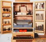 Easy Attractive Drill Bit Cabinet Woodworking Plan