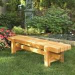 Durable Doable Outdoor Bench Woodworking Plan.