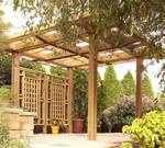 Made in the Shade Pergola Downloadable Woodworking Plan PDF, pergolas,outdoors,lattice,downloadable PDF,patterns,privacy screen,woodworking plans,woodworkers projects,blueprints,WOODmagazine,WOODStore