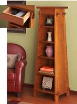 31-MD-00854 - Solid Oak Tapered Display Tower Woodworking Plan