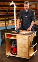 fee plans woodworking resource from WoodworkersWorkshop Online Store - dust control,dust collection,sanding,downloadable PDF,patterns,sanding worktable,workbenches,woodworking plans,woodworkers projects,blueprints,WOODmagazine,WOODStore