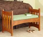 Arts and Crafts Style Bench Woodworking Plan