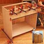 Quick and Easy Dry Sink Cabinet Woodworking Plan.