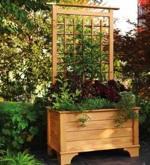 Planter Box and Trellis Woodworking Plan