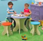 Table and Stools Woodworking Plan.