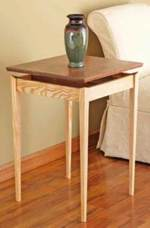fee plans woodworking resource from WoodworkersWorkshop Online Store - tables,indoors,furniture,downloadable PDF,patterns,side tables,end tables,woodworking plans,woodworkers projects,blueprints,WOODmagazine,WOODStore