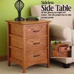 Sideless Side Table Woodworking Plan