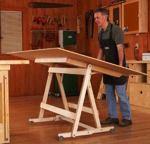 Fold-Flat Sheet Goods Mover Woodworking Plan.