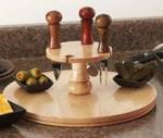 Hors d Oeuvre Server Downloadable Woodworking Plan PDF, servers,kitchens,kitchen accessories,downloadable PDF,patterns,lathes,woodturning,turned,woodworking plans,woodworkers projects,blueprints,WOODmagazine,WOODStore