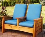 fee plans woodworking resource from WoodworkersWorkshop Online Store - outdoor settee,patio furniture,deck furnishings,downloadable PDF,solid wood,woodworking plans,woodworkers projects,blueprints,WOODmagazine,WOODStore