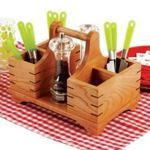 fee plans woodworking resource from WoodworkersWorkshop Online Store - kitchen accessories,tote box,silverware caddy,utensil carrier,centerpiece,downloadable PDF,patterns,woodworking plans,woodworkers projects,blueprints,WOODmagazine,WOODStore