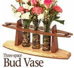 Three Space Bud Vase Woodworking Plan