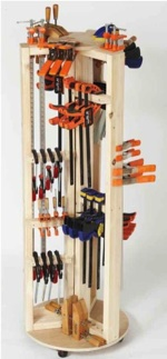 Carousel Clamp Rack Woodworking Plan
