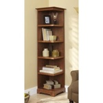 31-MD-00937 - Corner Bookcase Woodworking Plan.