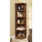 Corner Bookcase Woodworking Plan.
