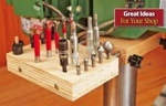 Drill Press Column Bit Shelf Woodworking Plan