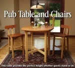 Pub Table and Chairs Woodworking Plan.