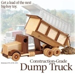 31-MD-00947 - Construction Grade Dump Truck Woodworking Plan.