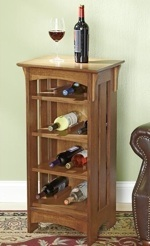 Simply Tasteful Wine Rack Woodworking Plan.