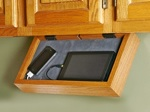 Under Cabinet Valet Downloadable Woodworking Plan PDF, phone charging station,ipod,ipad,mobile phones,valet,under counter,kitchen,organization,downloadable PDF,patterns,woodworking plans,woodworkers projects,blueprints,WOODmagazine,WOODStore