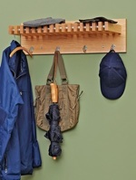 Hat and Coat Rack Woodworking Plan, coat racks,hallway storage,hat shelfs,entranceway shelves,downloadable PDF,patterns,woodworking plans,woodworkers projects,blueprints,WOODmagazine,WOODStore