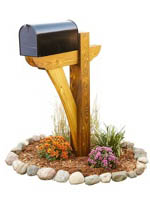 Timber Frame Mail Box Post Woodworking Plan.