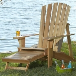 31-MD-00980 - Adirondack Chair with Built-In Footrest  Woodworking Plan.
