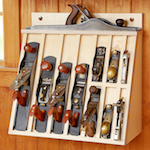 Hand Plane Rack Woodworking Plan