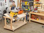 Flip-top Tool Bench Woodworking Plan