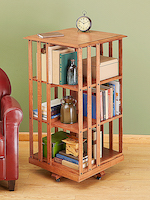 31-MD-00987 - Revolving Danner-inspired Bookcase Woodworking Plan