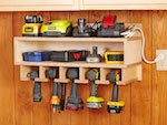 Cordless Tool Station Woodworking Plan woodworking plan