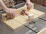 Small Parts Tablesaw Sled Woodworking Plan