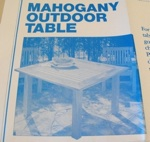 31-OFS-1006 - Mahogany Outdoor Table Vintage Woodworking Plan