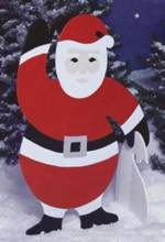 fee plans woodworking resource from WoodworkersWorkshop Online Store - santa,yard art,christmas,xmas,outdoors,santa clause,wooden,fee woodworking plans,projects,patterns,blueprints,build,construction,how to,diy,do-it-yourself
