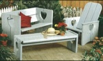 Bench, Chair and Table Woodworking Plan Set.