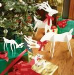 fee plans woodworking resource from WoodworkersWorkshop Online Store - reindeer,wooden,christms,xmas,small,indoors,knock down,space saving,white,tabletop,table top,fee woodworking plans,projects,patterns,blueprints,build,construction,how to,diy,do-it-yourself