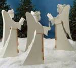 fee plans woodworking resource from WoodworkersWorkshop Online Store - angels,yard art,christmas,xmas,wooden,3d,three dimensional,fee woodworking plans,projects,patterns,blueprints,build,construction,how to,diy,do-it-yourself