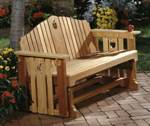 fee plans woodworking resource from WoodworkersWorkshop Online Store - gliders,benches,outdoors,porch gliders,wooden,cedar,fee woodworking plans,projects,patterns,blueprints,build,construction,how to,diy,do-it-yourself
