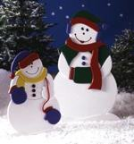 31-OFS-1034 - The Lovely Mrs Snow and Little Snowflake Woodworking Plan.