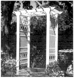 Victorian Arbor Woodworking Plan.