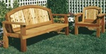 Deck Chair and Settee Woodworking Plan, settee,loveseat,benches,chairs,wooden,arched,outdoors,furniture,fee woodworking plans,projects,patterns,blueprints,build,construction,how to,diy,do-it-yourself
