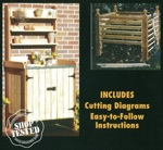 Potting Bench and Compost Bin Woodworking Plan Set woodworking plan