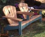 Double Settee for Two Woodworking Plan, adirondack,settee,loveseat,two,arm rests,furniture,outdoors,fee woodworking plans,projects,patterns,blueprints,build,construction,how to,diy,do-it-yourself