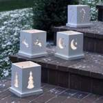 31-OFS-1094 - Holiday Luminarias Woodworking Plan - 4 designs included.