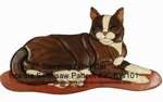 Lying Cat Intarsia Woodworking Pattern