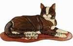 Lying Cat Intarsia Woodworking Pattern
