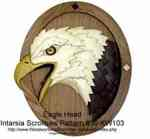 fee plans woodworking resource from WoodworkersWorkshop Online Store - eagle,bald,intarsia,birds,Kathy Wise,scrollsaw patterns,woodworking plans,scrollsawing projects,blueprints