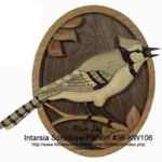 36-KW106 - Blue Jay Intarsia Woodworking Pattern