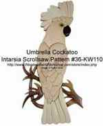 36-KW110 - Cockatoo Intarsia Woodworking Pattern