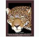 36-KW112 - Jaguar Head Intarsia Woodworking Pattern